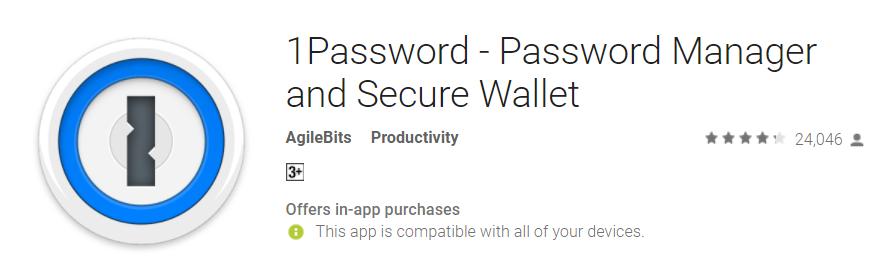 1password - autofill apps