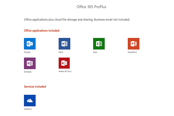 outlook office 365 proplus